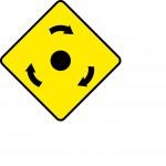 Mini-roundabout ahead