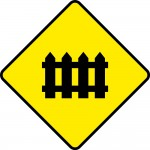 Level crossing with barrier